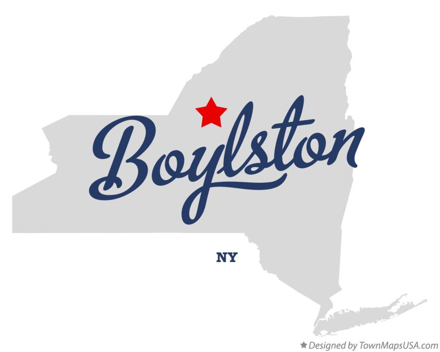 Map of Boylston New York NY