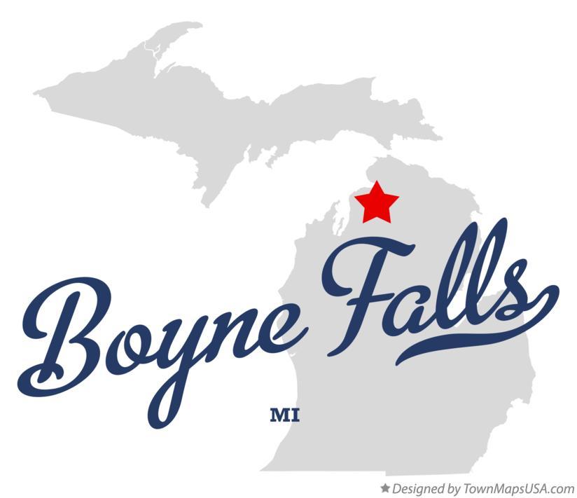 Map Of Boyne Falls Mi Michigan