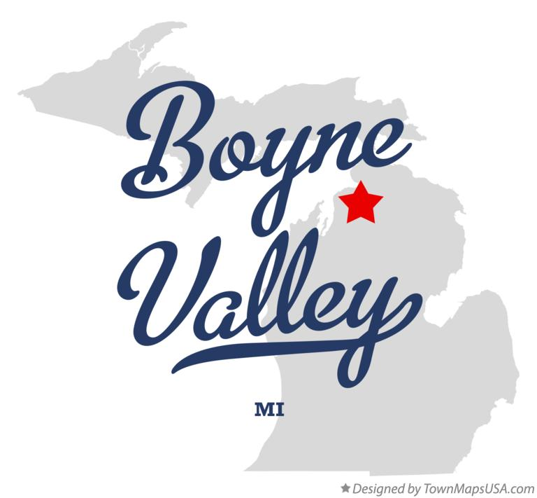 Map of Boyne Valley Michigan MI