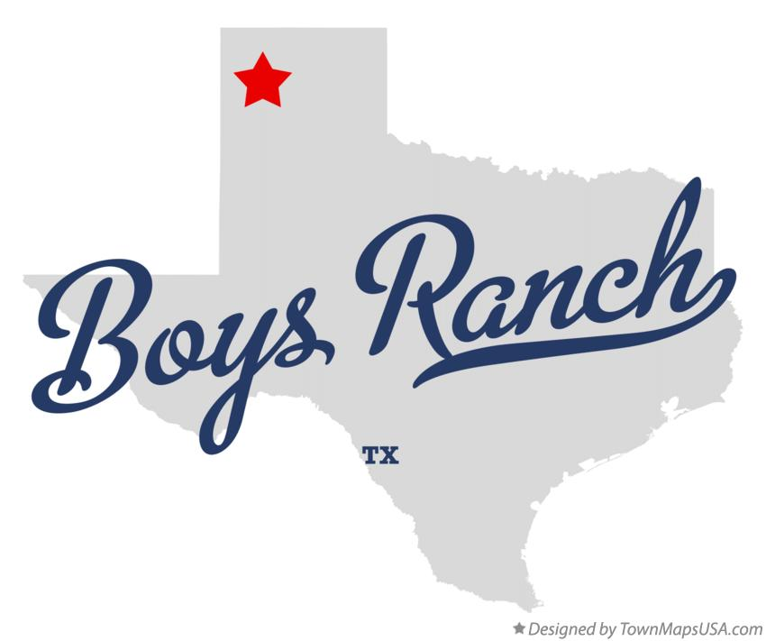 Map of Boys Ranch Texas TX