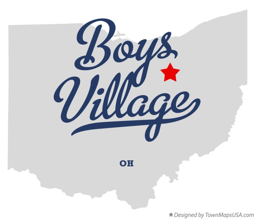 Map of Boys Village Ohio OH