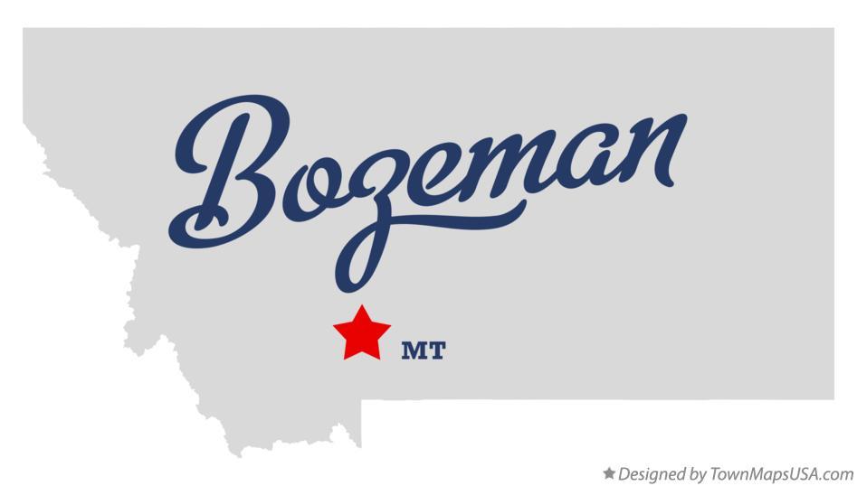 Map of Bozeman, MT, Montana