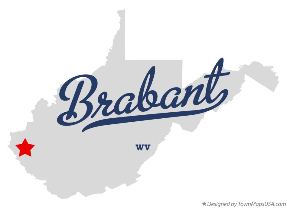 Map of Brabant West Virginia WV
