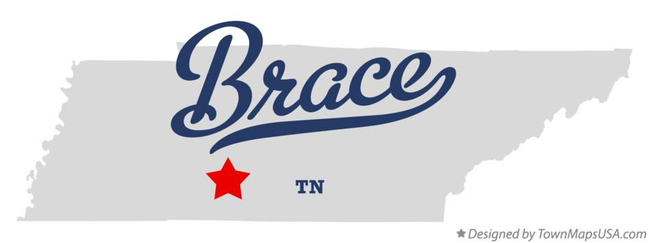 Map of Brace Tennessee TN