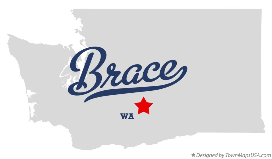 Map of Brace Washington WA
