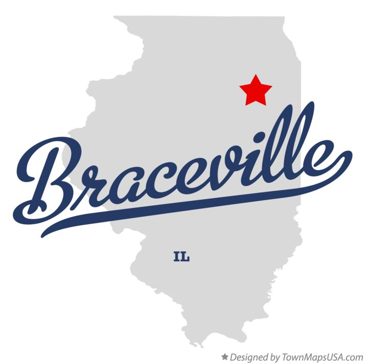 Map of Braceville Illinois IL