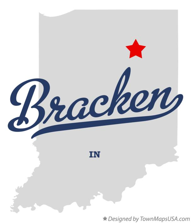 Map of Bracken Indiana IN