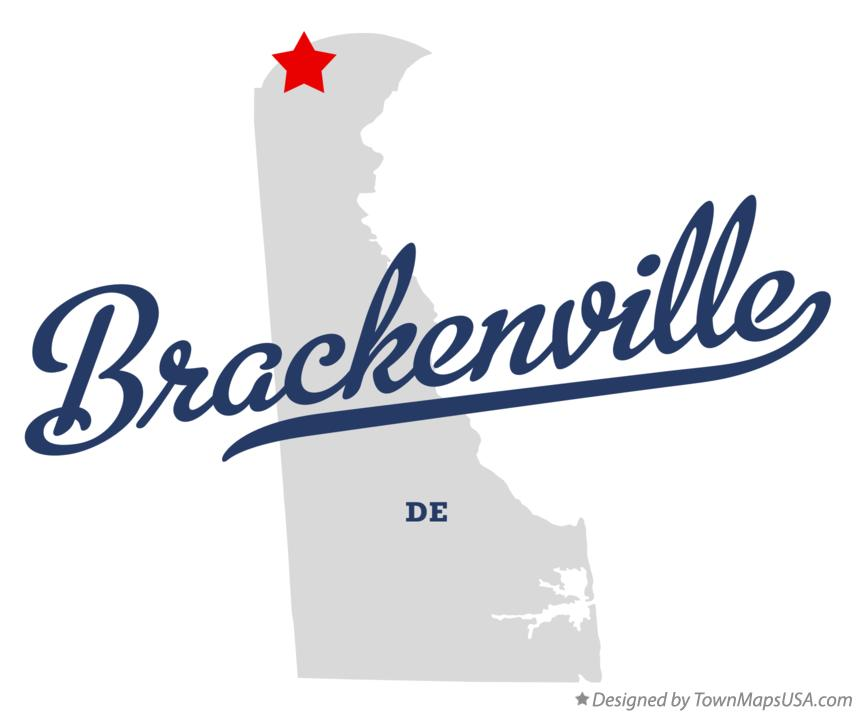 Map of Brackenville Delaware DE