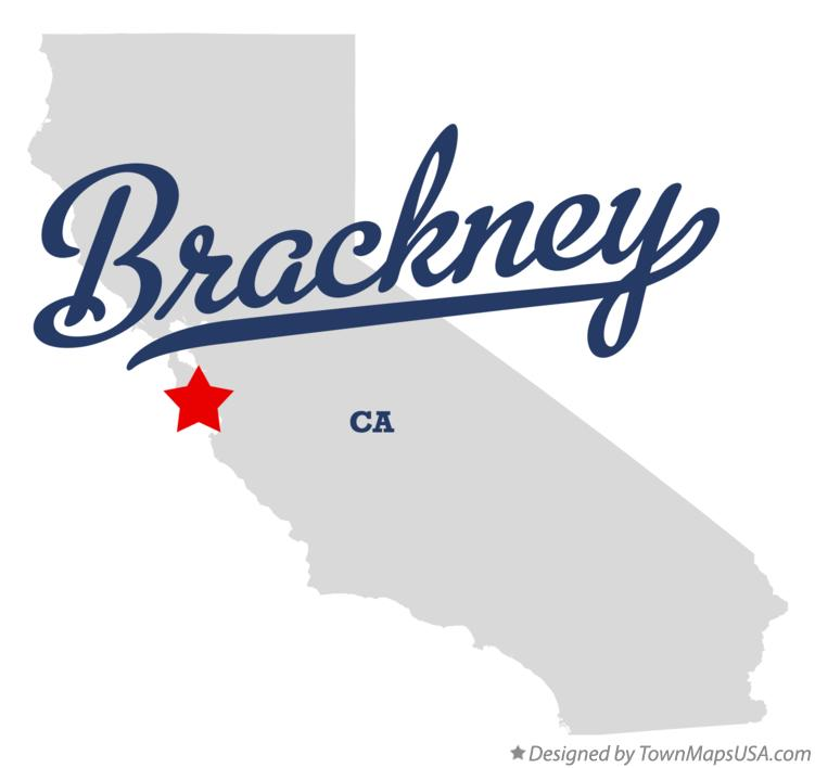 Map of Brackney California CA