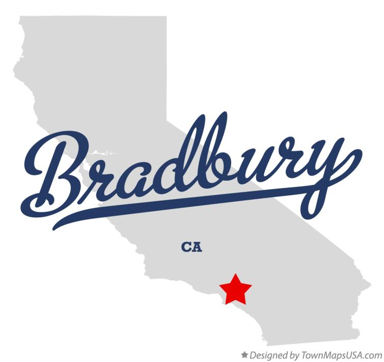 Map of Bradbury California CA