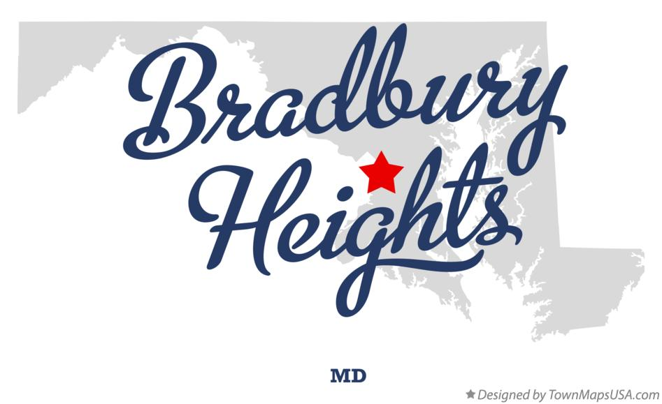 Map of Bradbury Heights Maryland MD