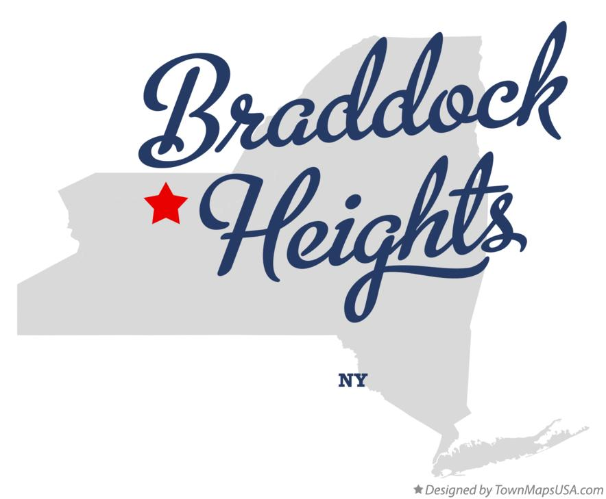 Map of Braddock Heights New York NY