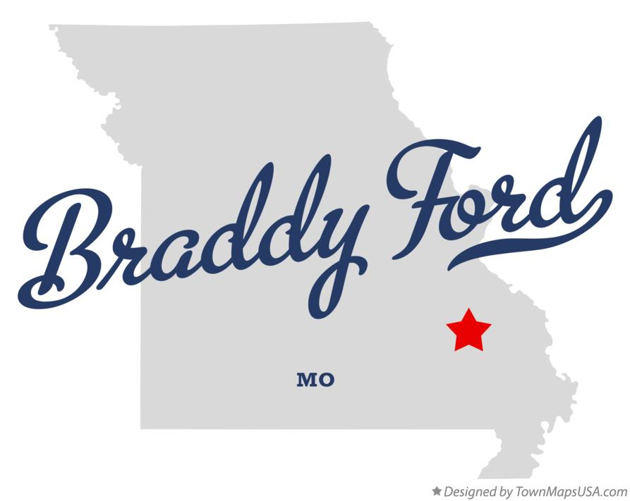 Map of Braddy Ford Missouri MO