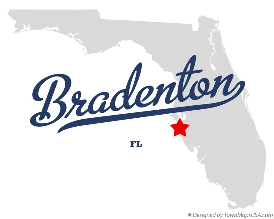 Map of Bradenton Florida FL