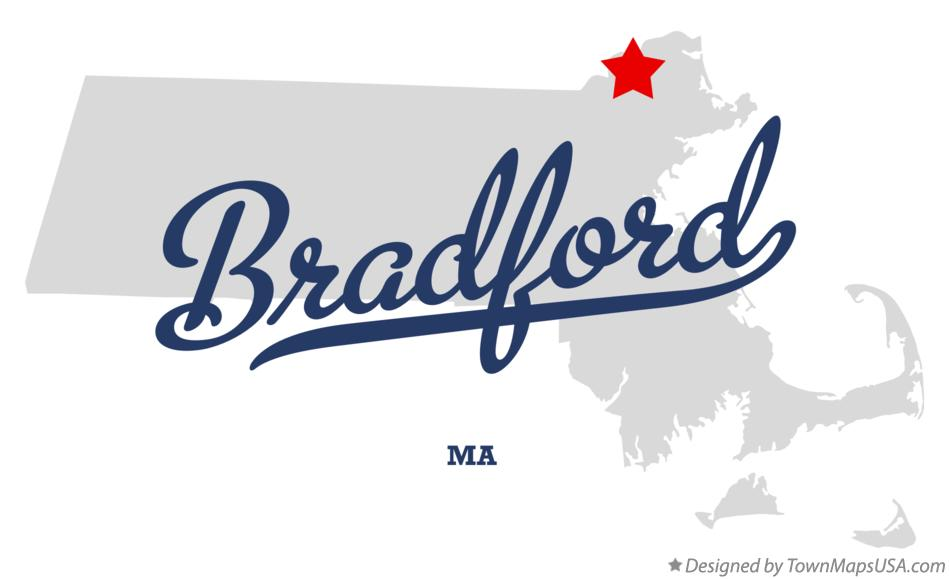 Map of Bradford Massachusetts MA