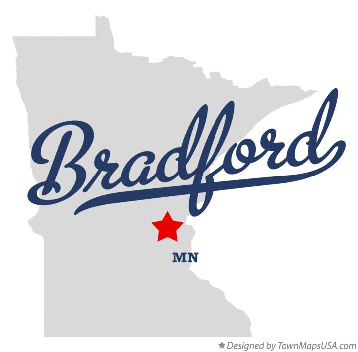 Map of Bradford Minnesota MN