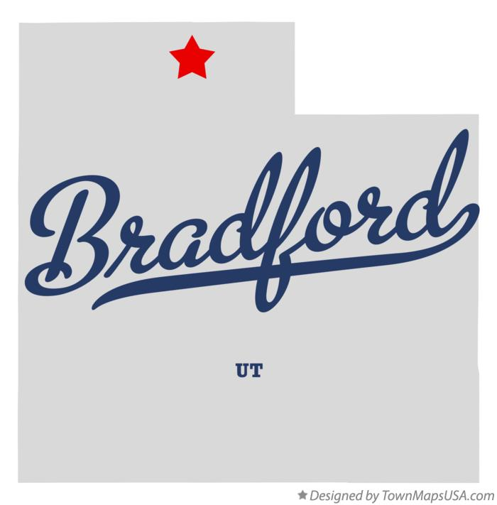 Map of Bradford Utah UT