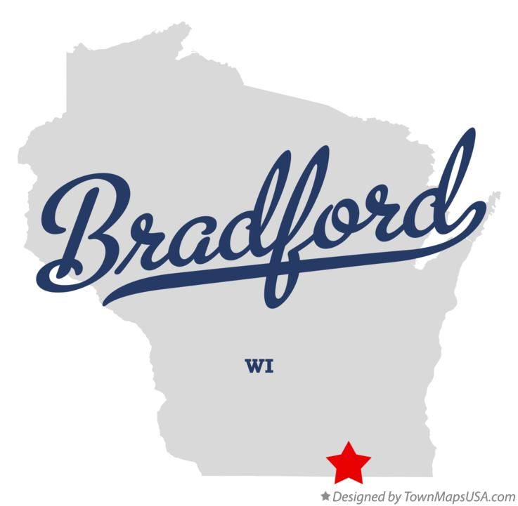 Map of Bradford Wisconsin WI