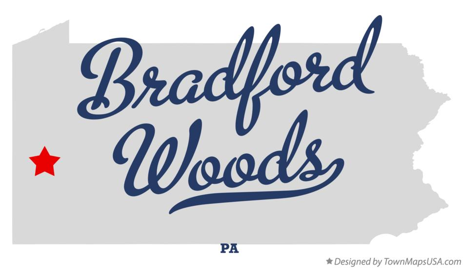 Map of Bradford Woods Pennsylvania PA