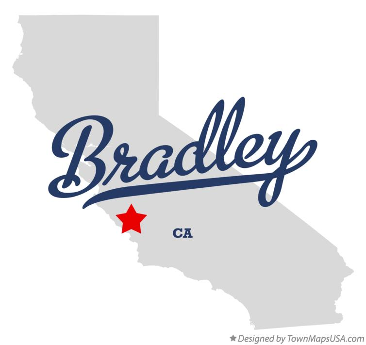 Map of Bradley California CA