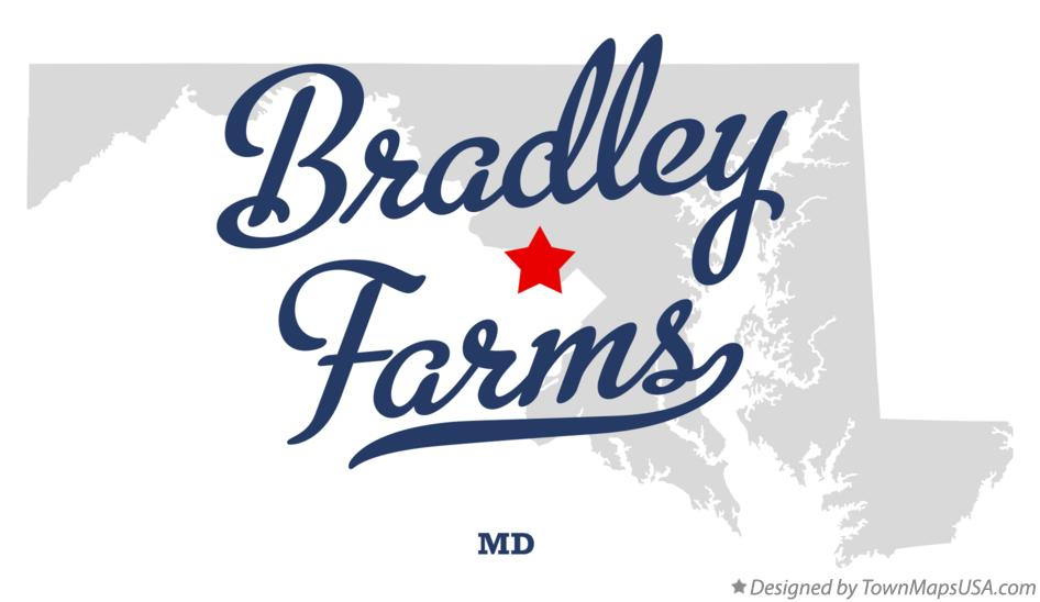 Map of Bradley Farms Maryland MD