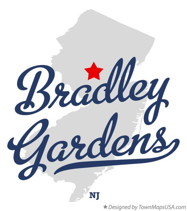 Map of Bradley Gardens New Jersey NJ