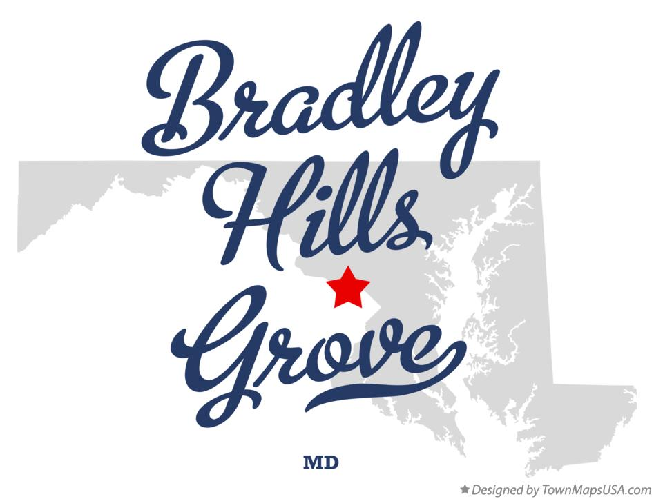 Map of Bradley Hills Grove Maryland MD