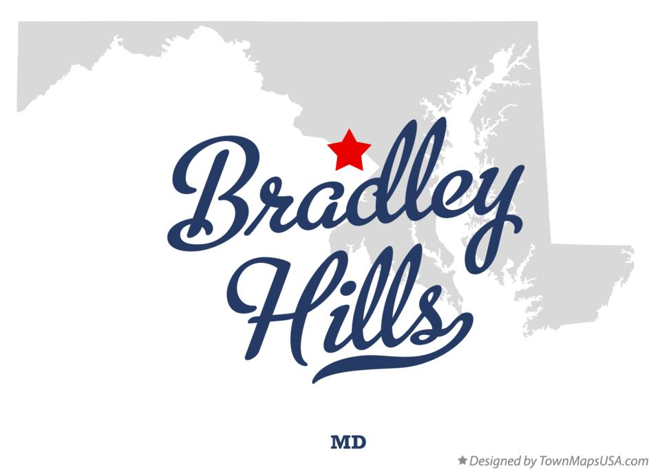 Map of Bradley Hills Maryland MD