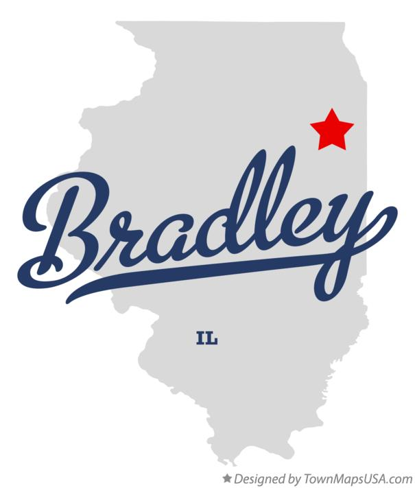 Map of Bradley Illinois IL