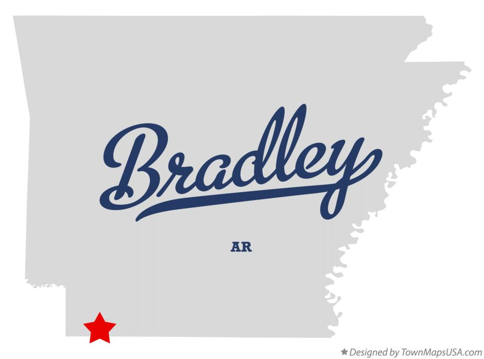 Map of Bradley Arkansas AR