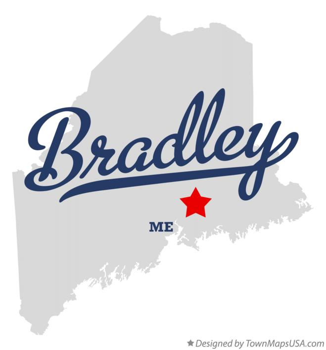 Map of Bradley Maine ME