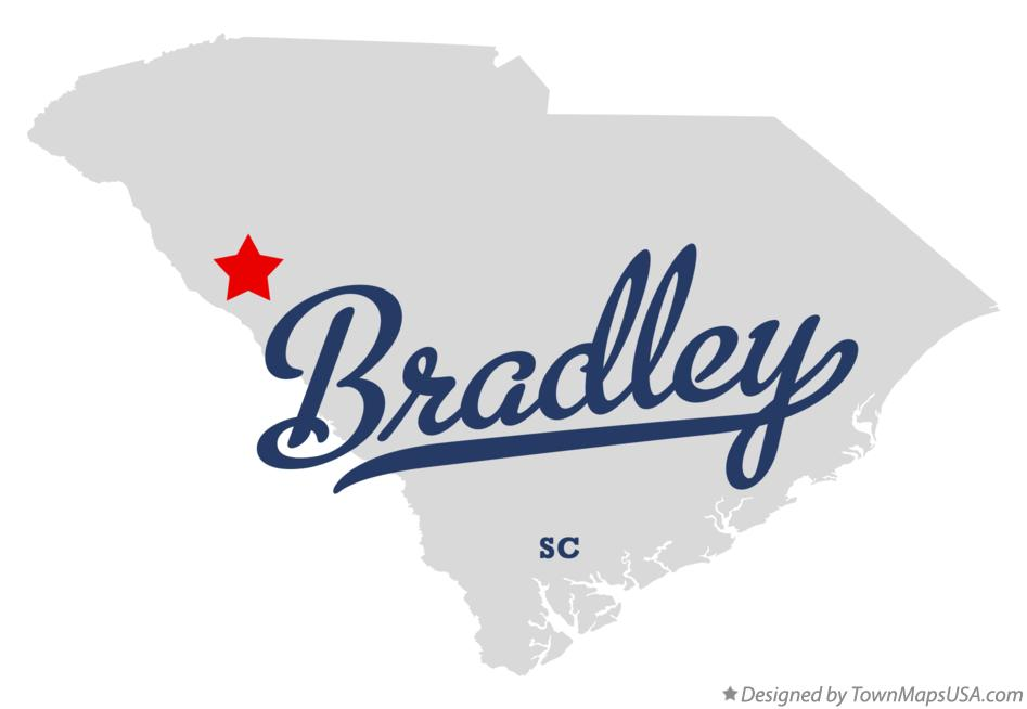 Map of Bradley South Carolina SC