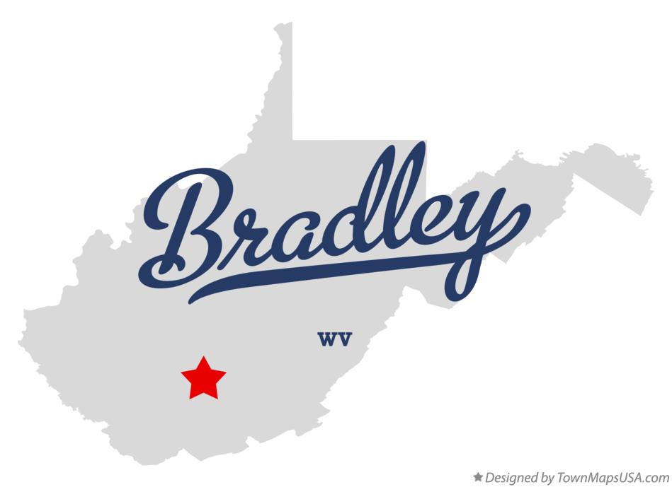 Map of Bradley West Virginia WV