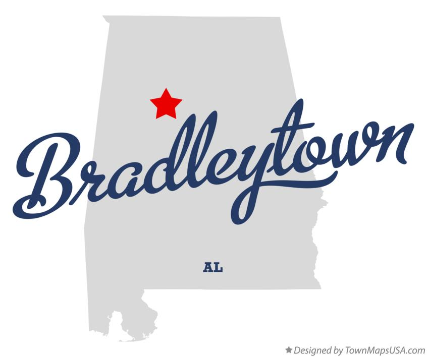 Map of Bradleytown Alabama AL