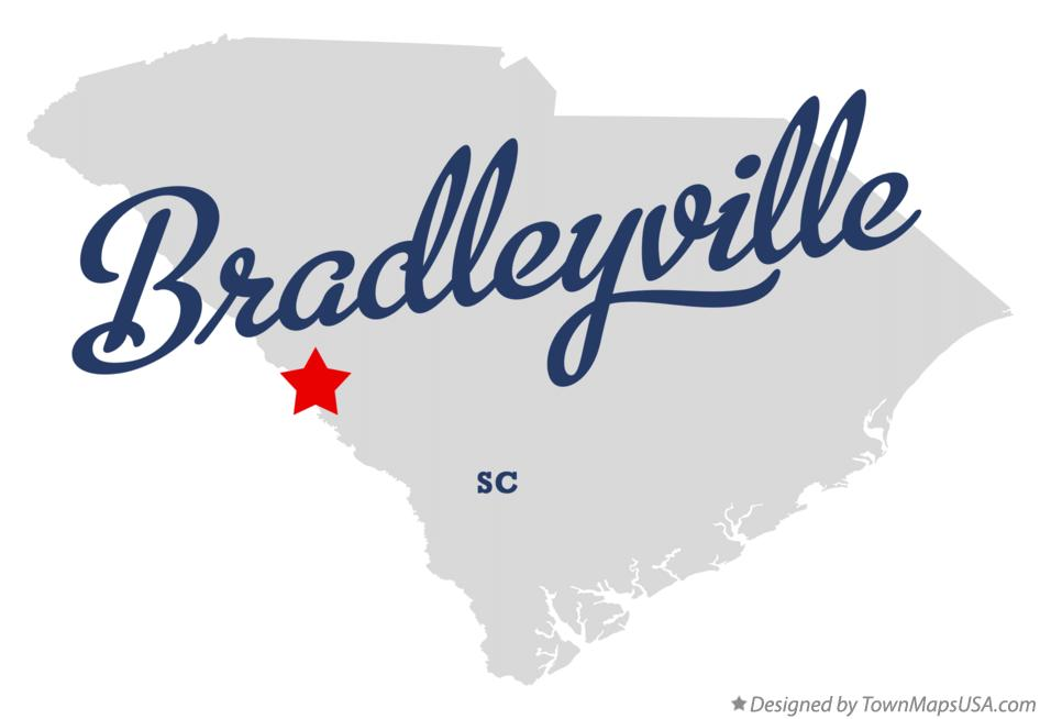 Map of Bradleyville South Carolina SC