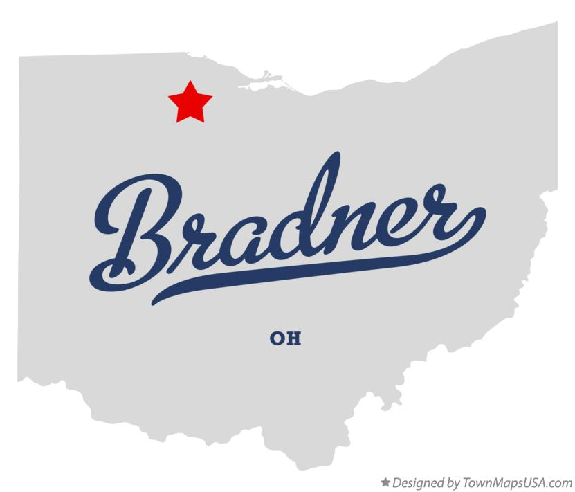 Map of Bradner Ohio OH