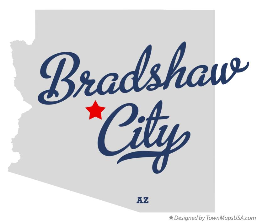 Map of Bradshaw City Arizona AZ
