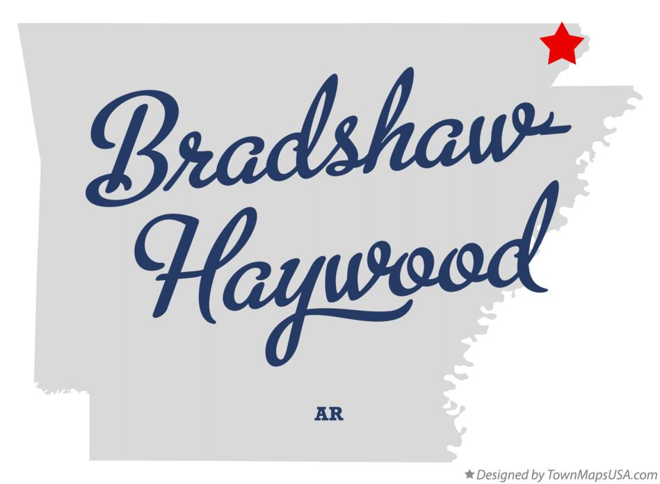 Map of Bradshaw-Haywood Arkansas AR