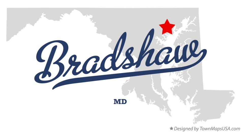 Map of Bradshaw Maryland MD