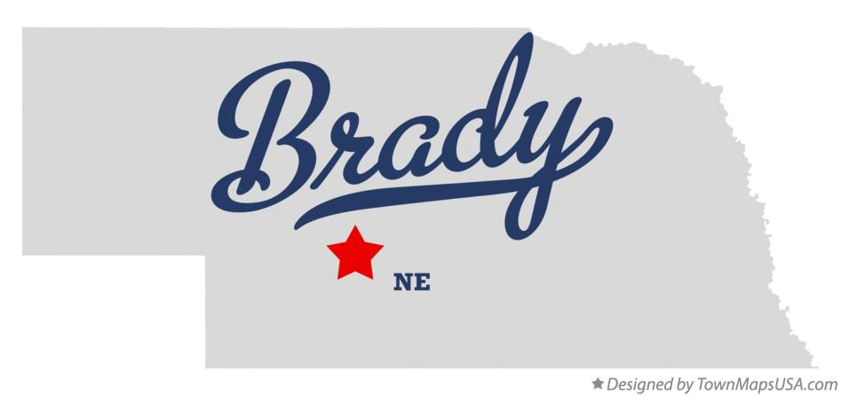Map of Brady Nebraska NE