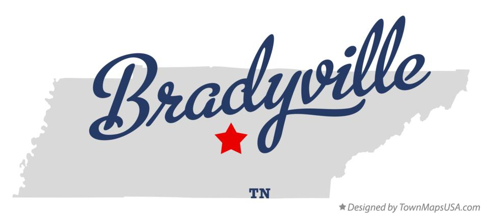 Map of Bradyville Tennessee TN