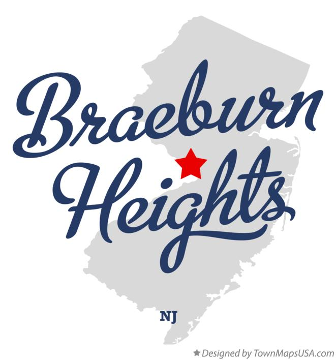 Map of Braeburn Heights New Jersey NJ