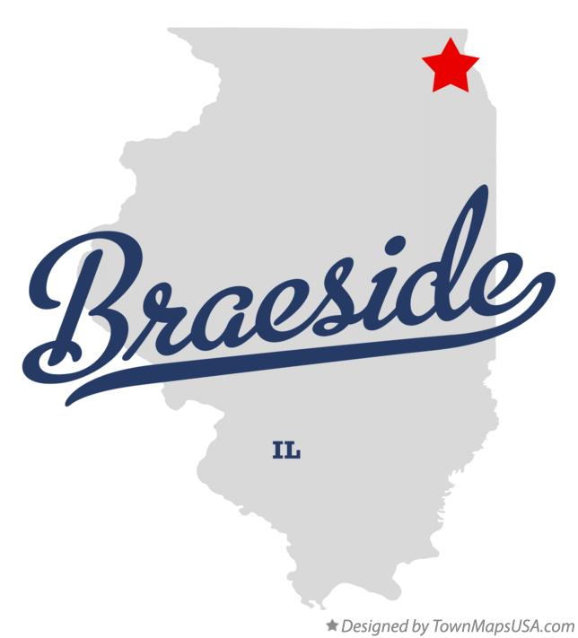 Map of Braeside Illinois IL