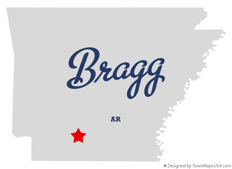 Map of Bragg Arkansas AR
