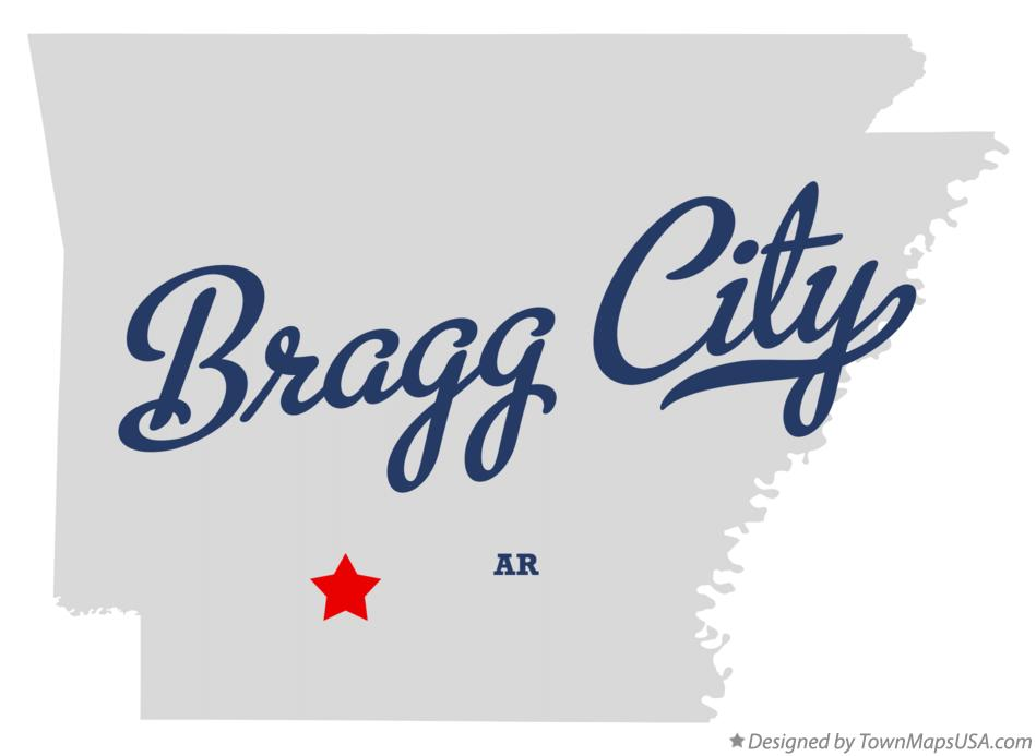Map of Bragg City Arkansas AR