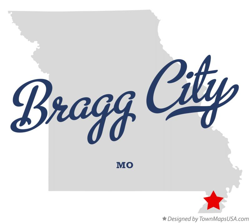 Map of Bragg City Missouri MO