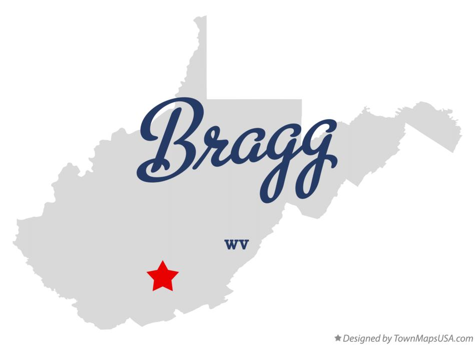 Map of Bragg West Virginia WV