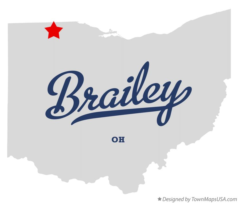Map of Brailey Ohio OH