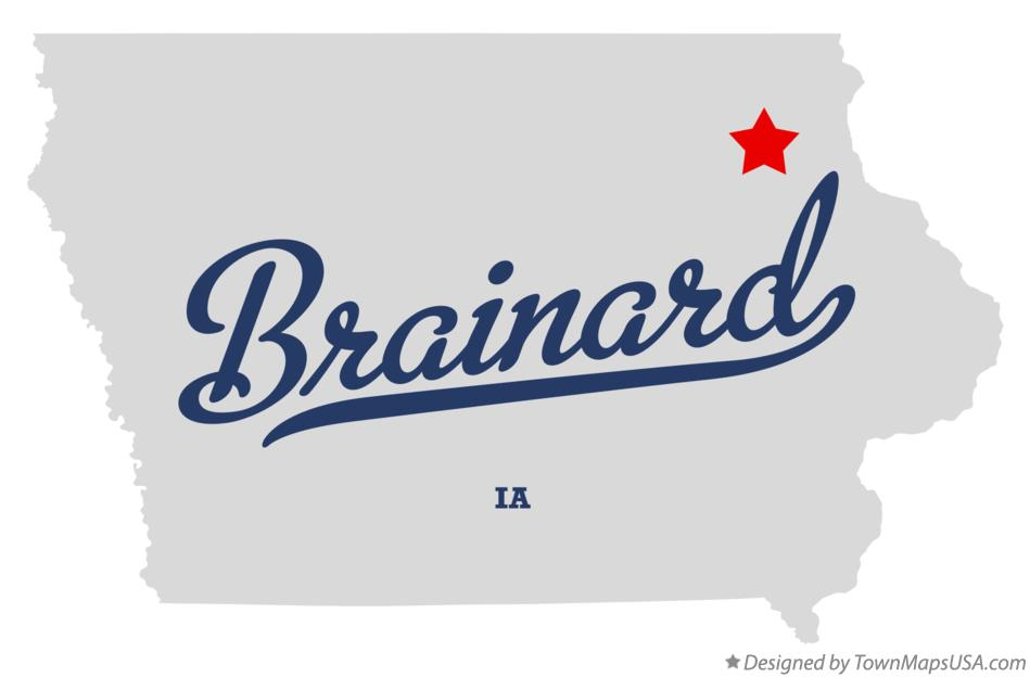 Map of Brainard Iowa IA