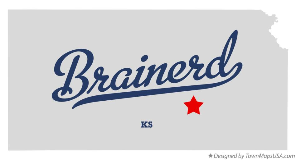 Map of Brainerd Kansas KS